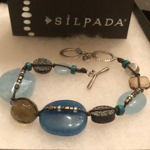 Silpada Sterling Blue Stone Watercolors Bracelet